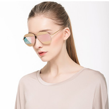 Free Shipping New Arrival Sunglasses Women Vintage Fashion Mirrored Sunglasses Unique Flat Ladies Sunglasses WUWD001