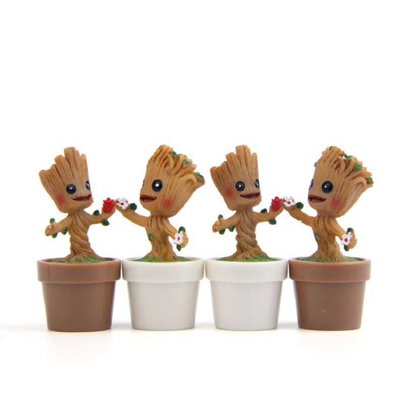 1pcs New DIY Decoration Toys Guardians of the Galaxy Tree Man Action Figures Collection Model Toys for Garden Home Decoration 2016 new arrival the guardians galaxy mini dancing tree man action figure model toy doll