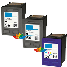 3 Ink cartridges for Compatible HP 56 & 57 PSC 1110 1200 1205 1210 1213 1215 1217 1219 1315 1317 All In One Printer(China)