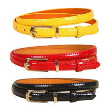 2017 New Girls Black White Blue Yellow Brown PU Waist Belt Female Fashion Womens Leather Waistband Belts for Jeans Wholesale(China)
