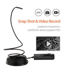 Dia 5.5mm 2MP IP67 720P LCD Endoscope Borescope Camera 3.5M/5M Snake Inspection Tube Camera DVR Waterproof Sewage Camera