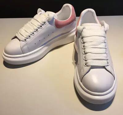 Women s high quality brand leather white sneakers platform shoes increased casual shoes sponge shoes sneakers