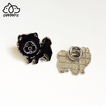 Chow Chow dog brooches for women girls men silver color metal alloy animal pet dog male female small brooch pins clothes jewelry image