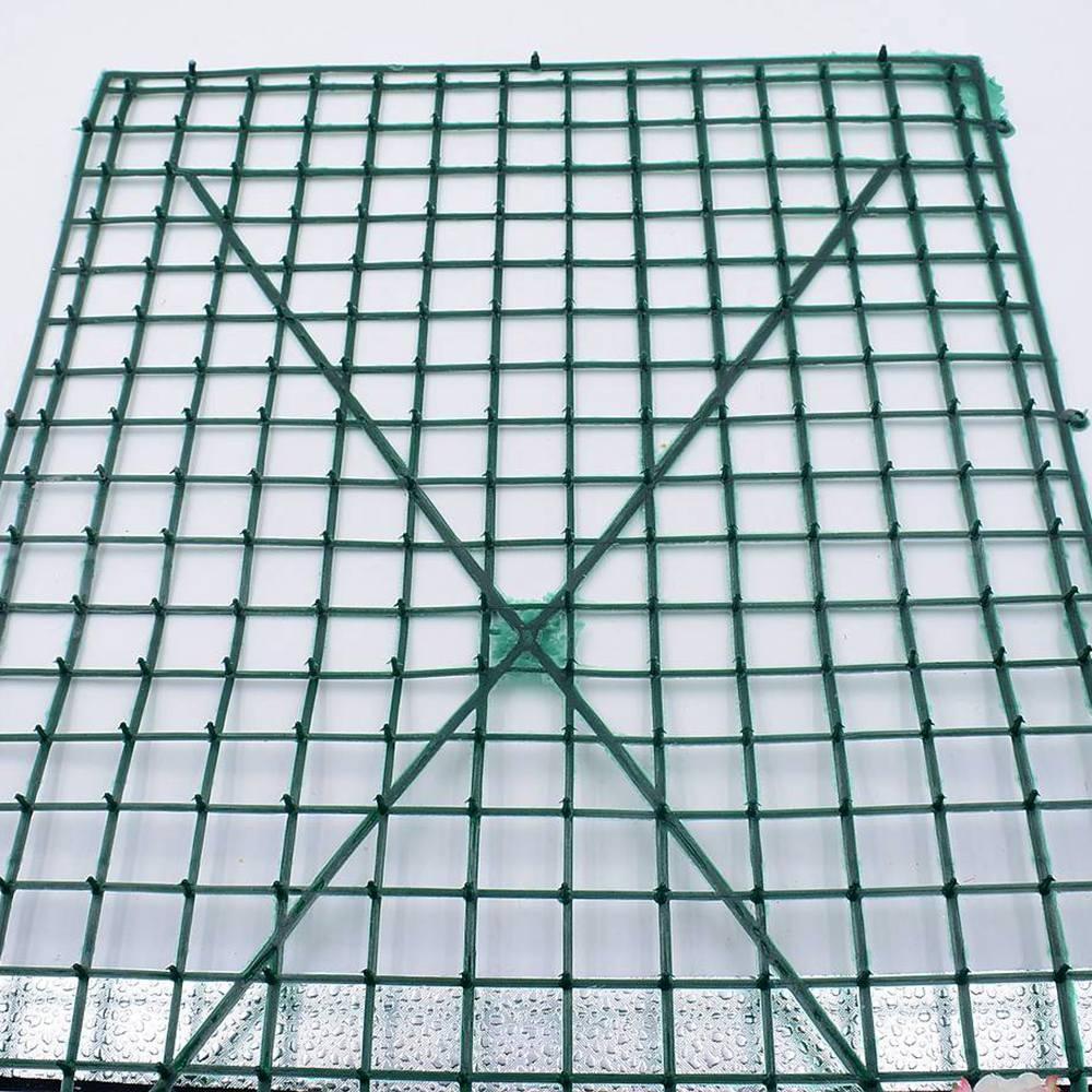 40x60cm plastic green lawn grid wedding party holiday decoration