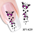 5 Sheets Women Unique Trendy Daisy Nail Art Salon Water Decals Art WaterMark Stickers Decoration XF1013