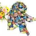 Rosto sorridente Impressão Verão Senhoras Estilo Longo de Chiffon Cachecol Primavera Inverno Das Mulheres Impressa Lenços Xales Bufanda cachecol