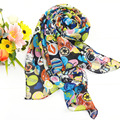 Smiling Face Printing Summer Style Ladies Long Chiffon Scarf Spring Winter Women Printed Scarves Shawls Bufanda Cachecol