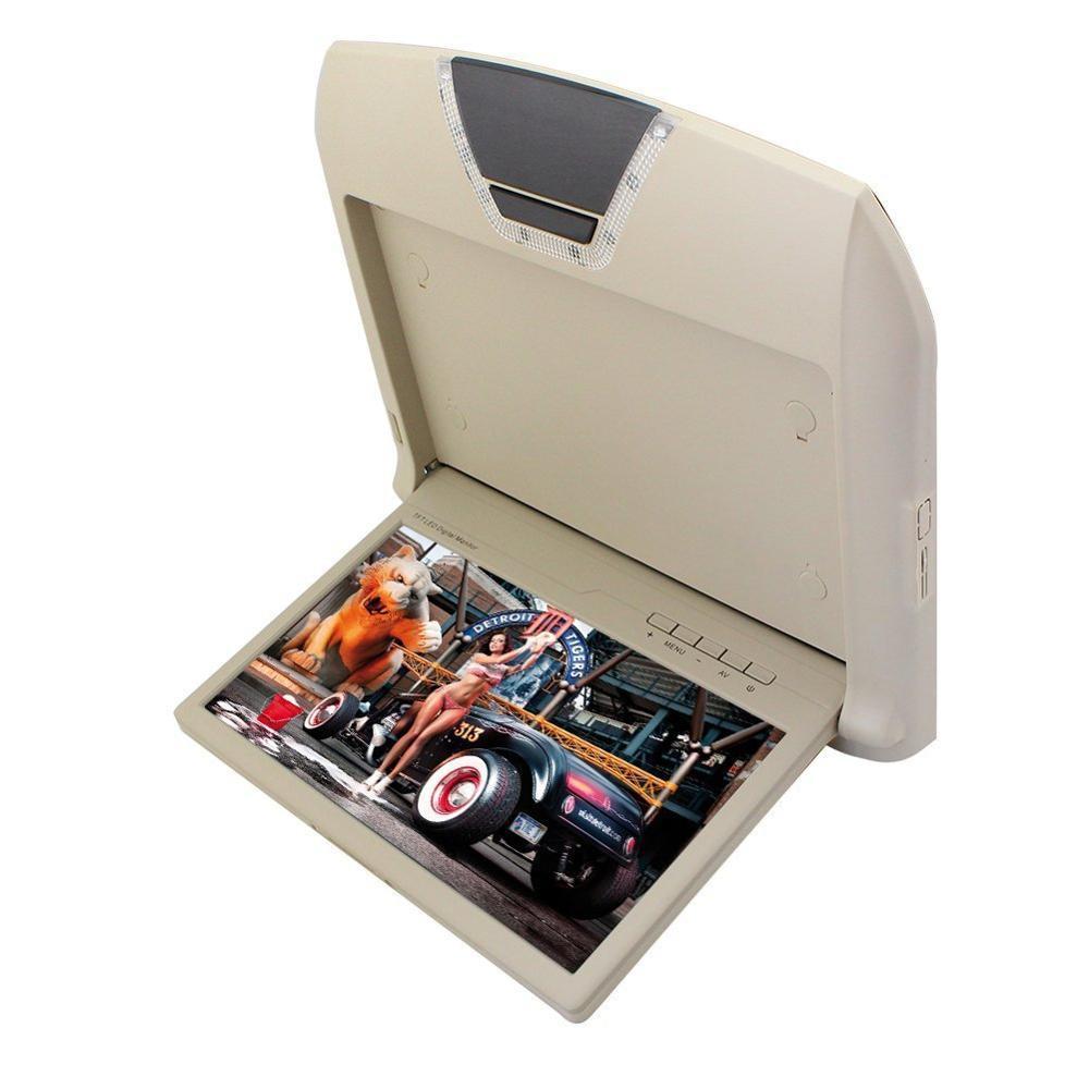 10.1 Pouce TFT Flip Down Moniteur pour voitures LCD Écran Numérique Joueur de tête Toit Mount Display avec 2 entrée AV télécommande