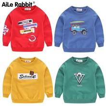 цены на Children's Garment Spring Catamite Children Girl Pullover Sweater New Pattern Children Round Neck Long Sleeve Become Hand Sell  в интернет-магазинах