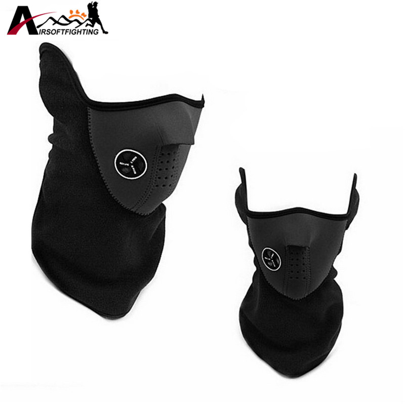 Warm Fleece Half Face Mask Cover Neck Hood Protection Ski Cycling Outdoor Winter Warm Neck Guard Scarf Windproof Warm Mask unisex winter warm fleece full face mask head cover neck warmer scarf hat ski cycling motorcycle balaclava caps outdoor sports