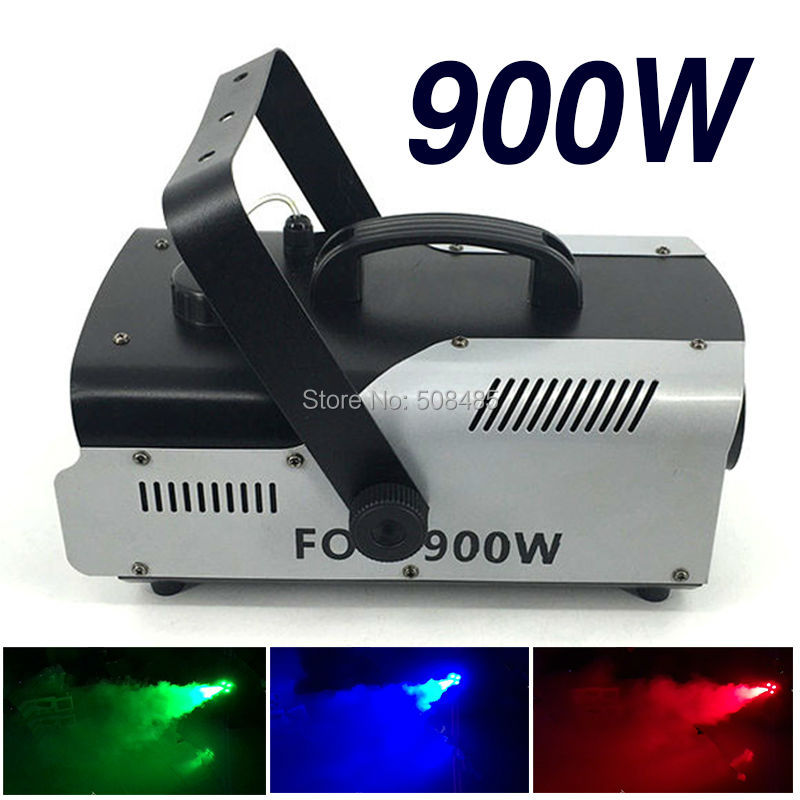 Hot sell high quality LED 900W Fog Machine Mini 900w RGB LED Smoke Machine Stage Special Effects dj equipment hot 1500w confetti machine rainbow machine entertainment open air concert theater american dj stage effects