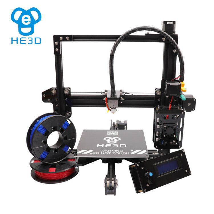 HE3D EI3 single flex aluminium extruder DIY 3D printer, 2 rolls of filaments for gift tie in selling 3d scanner
