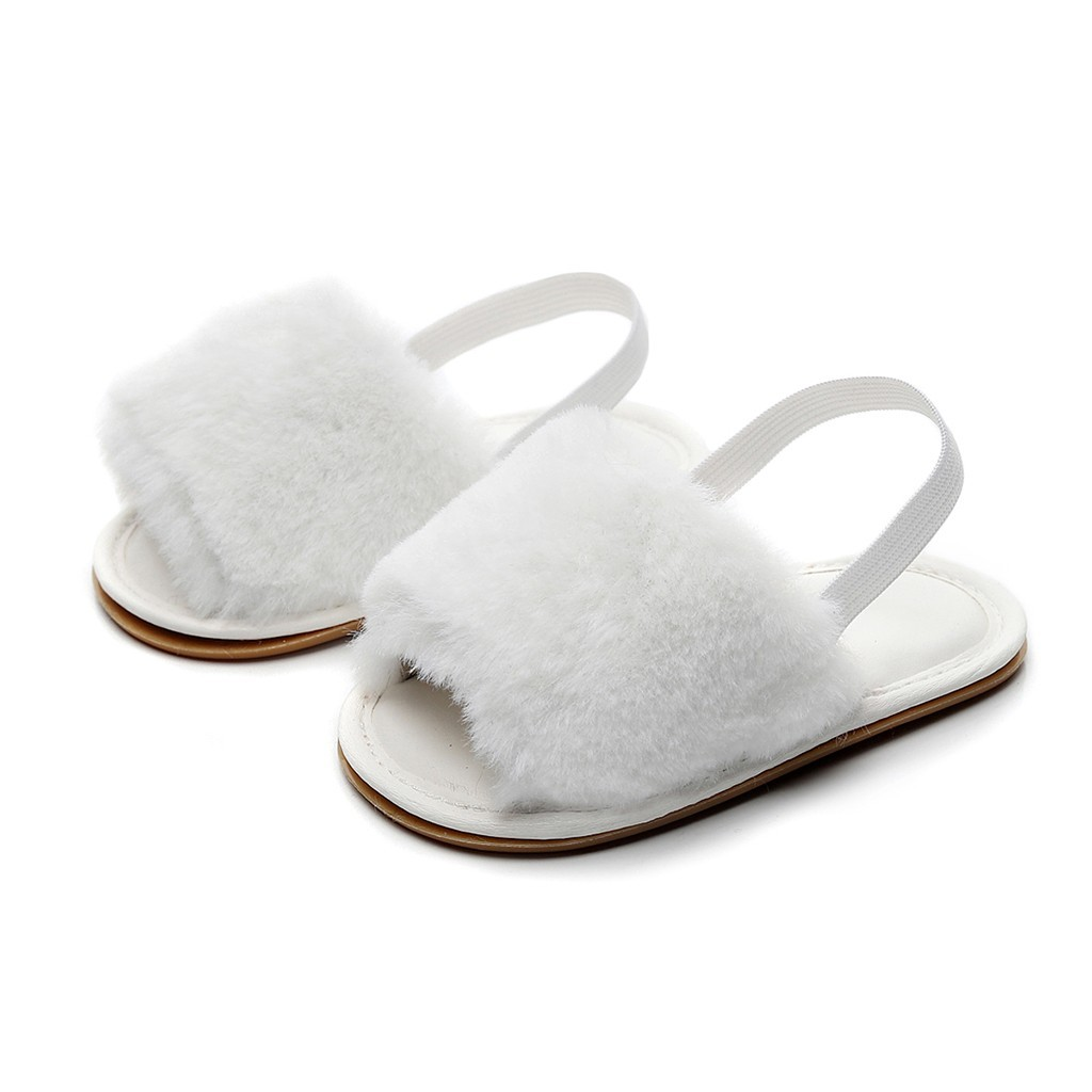 Newborn Baby Girls Soft Fluffy Shoes Toddler Infant Baby Girls Boys Solid Flock Soft Slipper Casual Shoes