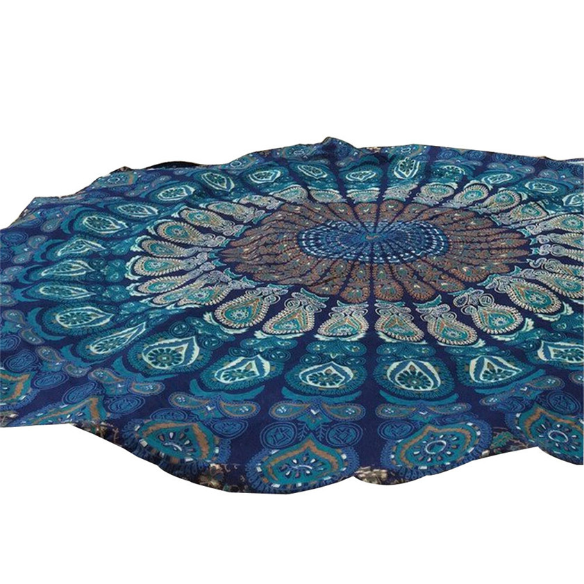 D-2 High Cost-Effective Round Beach Pool Home Shower Towel Blanket Table Cloth Yoga Mat