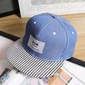 Female hip-hop cap baseball cap Male summer USN patch casual flat-brimmed hat