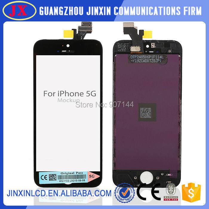 Prix pour 10 PCS/LOT 100% Garantie Pour l'iphone 5 5G LCD avec écran tactile digitizer Assemblée Blanc ou Noir Livraison gratuite