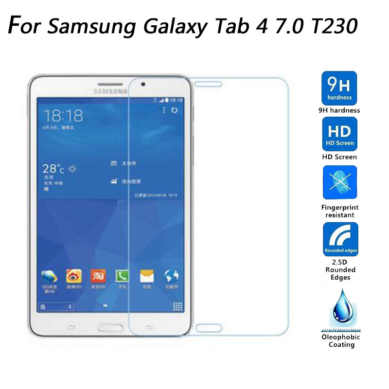 2.5D 0.3mm 9H Tempered Glass Explosion-proof Screen Protector For Samsung Galaxy Tab 4 7.0 T230 T231 T235 Tablet Protective Film