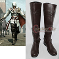 Por encargo assassins Creed Ezio botas botas de Cosplay hombres adultos zapatos de Cosplay de Halloween D0111