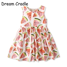 Dream Cradle Sisters Fashion Dress / Suit for Global Children 6/12M to 14/16Y Fruit, Flower Cute Print Baby Girl Frock Design