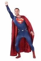 Superman Spandex Zentai Costume Deguisement Halloween Costumes For Men Fancy Dress Jumpsuit With Cape