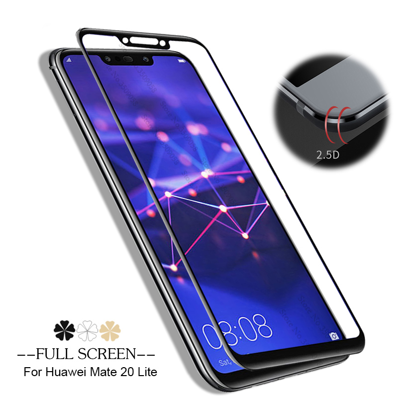 Tempered Glass For Huawei Mate 20 Lite Full Cover Screen Protector Safety Glass For Huawe Mate 20 Light 6.3inch Protective Film