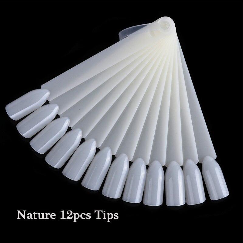 1 Набор накладных насадок для ногтей, натуральный прозрачный черный веер, на палец, полная карта, для дизайна ногтей, для практики, акриловый УФ-Гель-лак, инструмент для маникюра JI386 - Цвет: 14