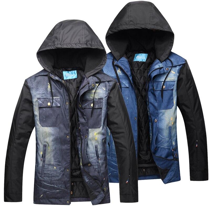 Men Ski Jacket Waterproof Windproof Winter Ski Suit Snowboard Warm Snow Clothes Winter Ski Jackets Suit  Clothing Winter