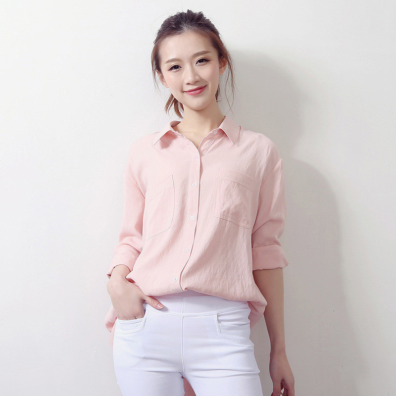 54b03296c76 Для женщин Топы корректирующие Длинные рукава Повседневное одноцветное Цвет  Рубашки для мальчиков Модная блуза Элегантная блузка