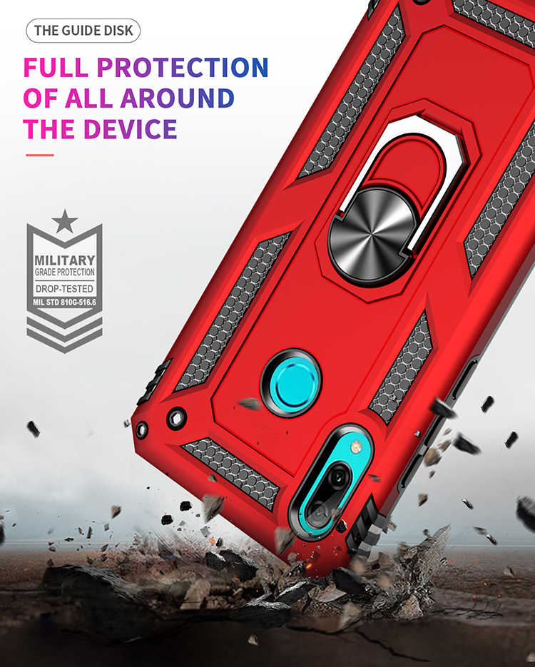 2 in 1 Anti-knock Case for Huawei Mate 20 Pro P Smart Y9 Prime 2019 P Smart Z Cover Car Holder Magnetic Suction Armor Phone Case