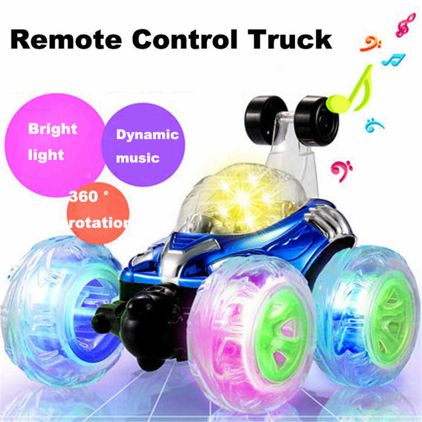 360 Remote Control Car Spinning And Flips With Color Flash & Music for Kids Remote Control Truck