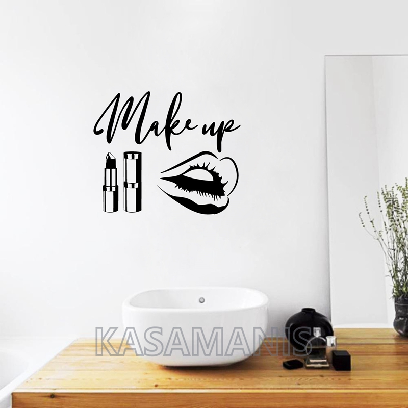 makeup wall vinyl wall stickers