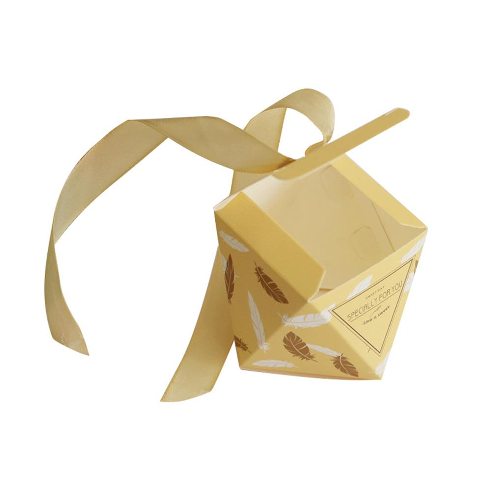 10pcs/set Multicolor Wedding Favor Box Bags Sweet Gift Candy Boxes ...