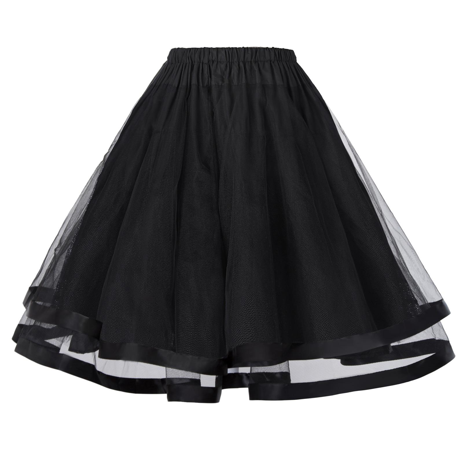 Women Underskirt Crinoline fluffy pettiskirt Retro Vintage 3 Layers Tulle Netting Tutu Skirt Silps swing Rockabilly Petticoat