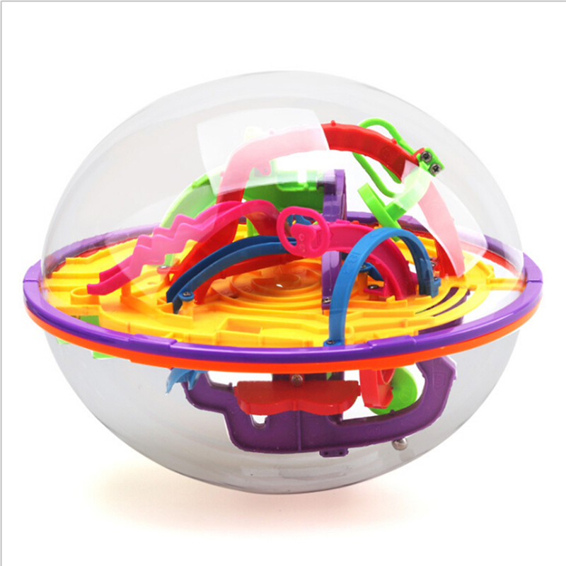 100 Optical Card 3D Puzzle Ball Magic Intellect Ball With Toy Gifts Puzzle Balance Logic Ability Game For Children Adults Funny image