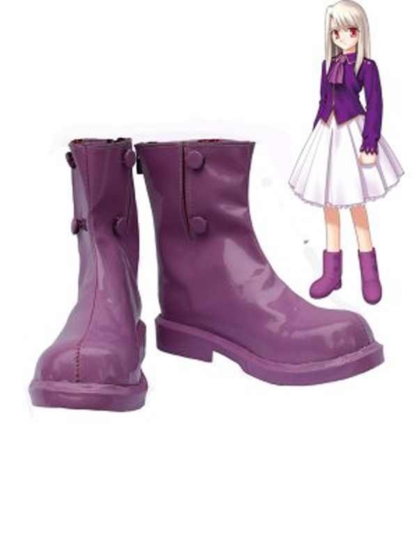 Fate Stay Night Cosplay Illyasviel Von Einzbern Purple Cosplay Boots Shoes Anime Party Cosplay Boots Custom Made Women Shoes