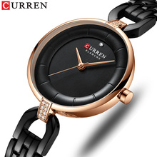 CURREN Quartz Women Luxury Rhinestone Clock Woman Gift Charm