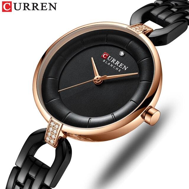 Женские часы-браслет со стразами CURREN