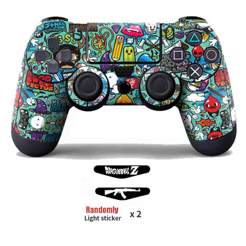 Winylu pokrywa naklejka dla PS4 bezprzewodowy gamepad skóra ochronna naklejka dla konsoli Playstation 4 Controle Joystick