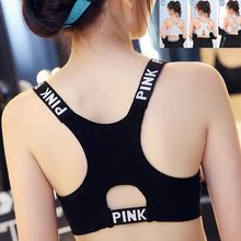 3Designs Women Sport Bra Top Black Padded Yoga Brassiere Fitness Sports Tank Female Push Up