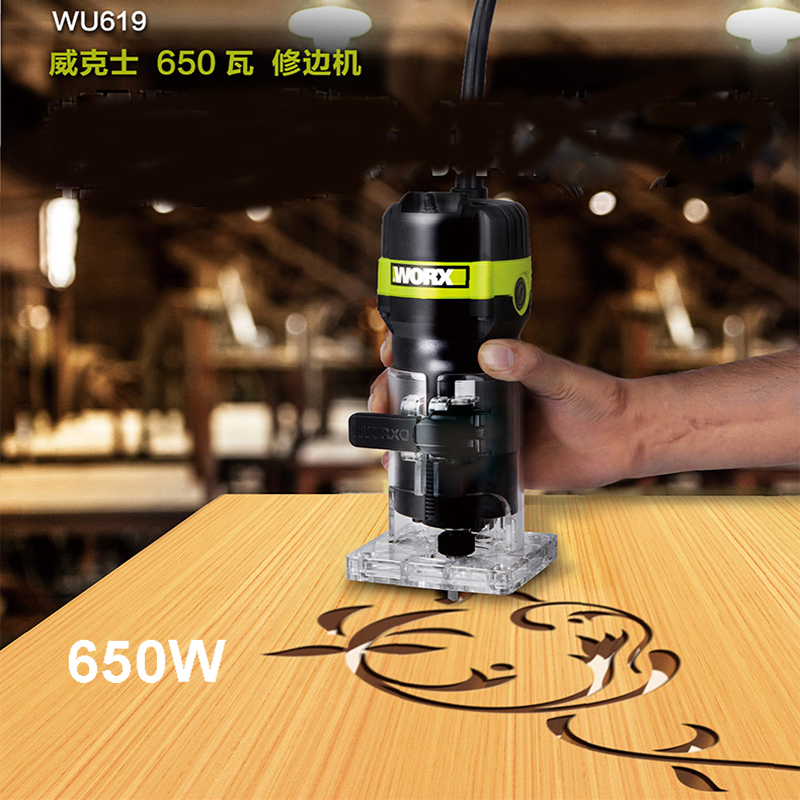 Worx Wu619 1 4 Inch Trimmer 6 35mm Electric Woodworking Trimmer 650w