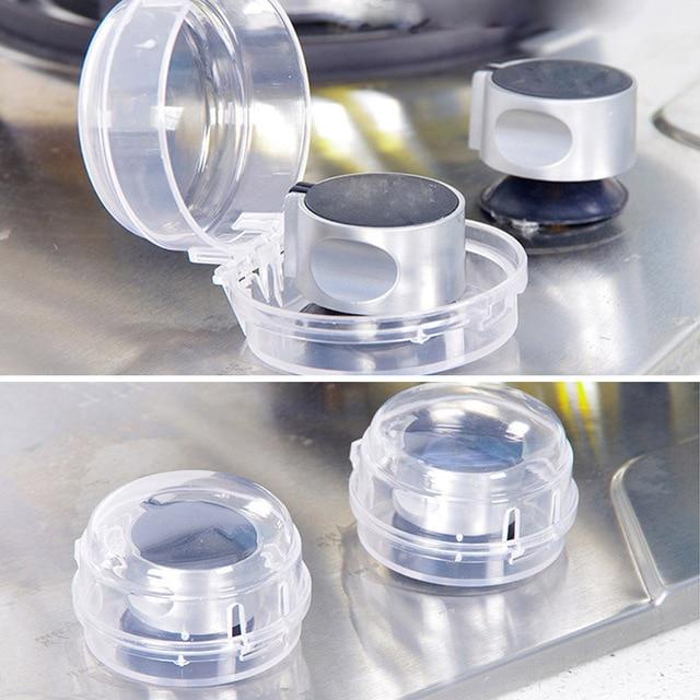 2 Pcs Bayi Anak Keselamatan Oven Kompor Gas Ang Saklar Kontrol Tombol Penutup Perlindungan Plastik Dapur