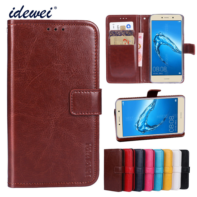 Idewe luxury case for huawei y7 prime flip wallet leather - Alienware concealed carry ...