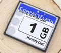 1x OEM 1GB Compact Flash Card With Free Card Case