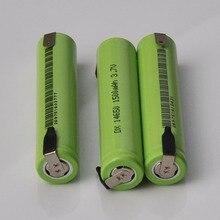 В 4-10 шт. 14650 в 3,7 литий-ионная аккумуляторная батарея li-ion cell baterias 1500 мАч со сварочными контактами для фонарика электрическая бритва