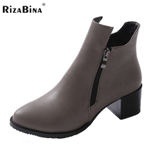 Autumn And Winter Short Cylinder Boots With High Heels Boots Shoes Martin Boots Women Ankle Boots With Thick Scrub 32-43