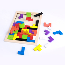 High Quality Wooden building blocks Tetris Game Children Play Wood Toy Training Educational Toys