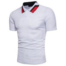 2018 verano estilo algodón Hombre Polo Color sólido manga corta  transpirable marca famosa hombres Polos camisas d9110e9271ced