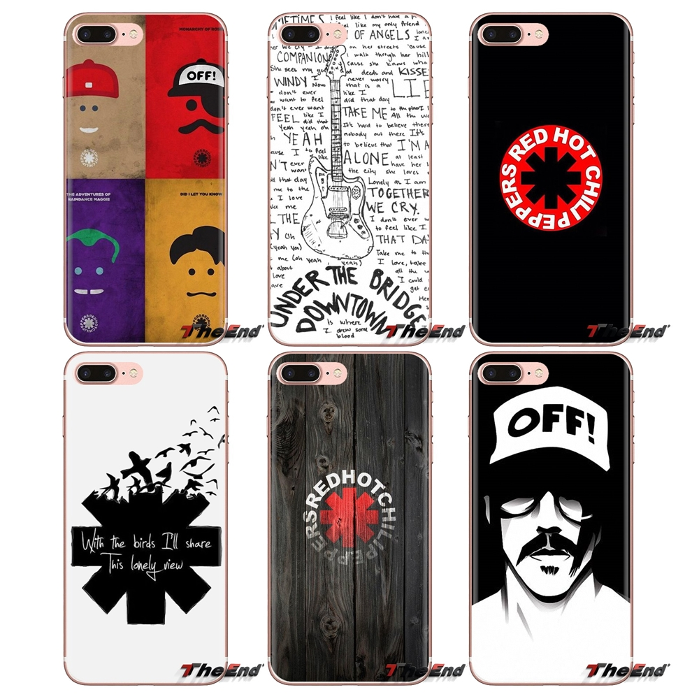 Red Hot Chili Peppers Los Angeles TPU Transparent Cover Bag For Xiaomi Redmi 4A S2 Note 3 3S 4 4X 5 Plus 6 7 6A Pro Pocophone F1