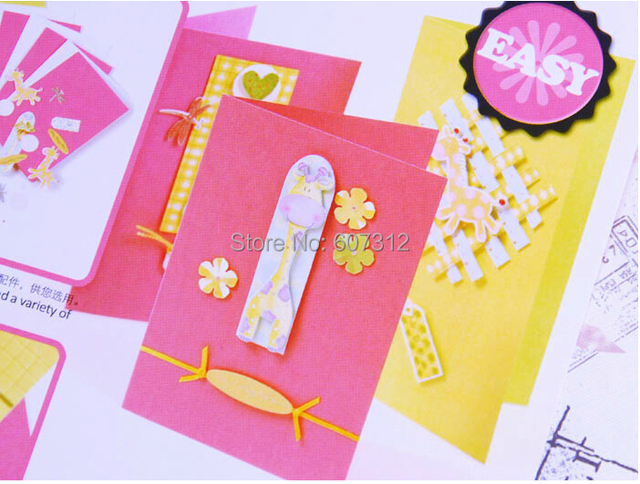 DIY Handmade Birthday Card Mothers Day Cards Set For Mother Best Gift Free Shipping HK03