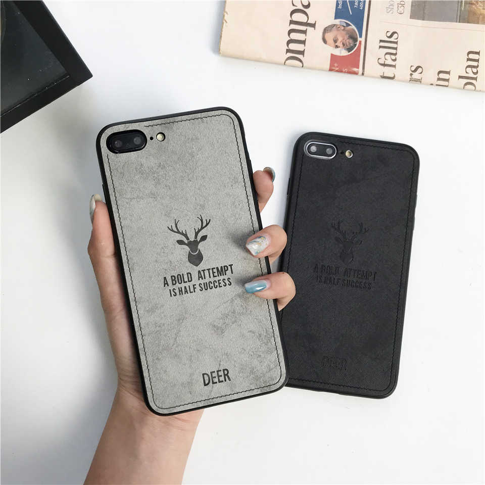 Case For iphone XS MAX XR X SE 5 5s 6 6s 7 8 Plus Fabric Deer Art Cloth Cover Huawei Mate 10 20 Lite Nova 3 P20 P10 Honor 9 8X